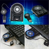 Wholesale exhaust cooling fan notebook cooler Computer cooling fan Mini USB radiator ventilation Large air volume fan