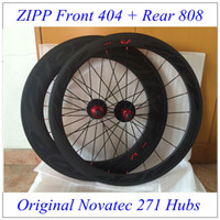Wholesale Front ZIP Rear Zip Black Decals Carbon Fiber Road Bike Racing Wheels Clincher Tubular Bicycle C Wheelset With Novatec Hubs