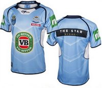 Wholesale High quality New South Wales Blues men s shirt size s xl super Rugby Jersey Top thai quailty