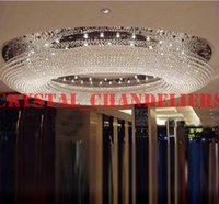 Wholesale Luxury Villa Penthouse Living Room K9 Crystal Lamp Hotel Renovation Project Large Crystal Chandelier Lobby Pendant Droplight