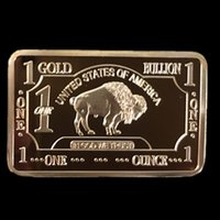 american gold bullion - 5 Brand new fine gold American OX buffalo real gold plated souvenir bullion bar coin Yellow stone wide life animal