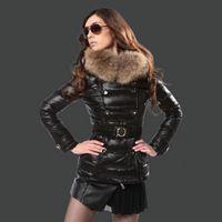batik patterns - Top Brand Women Down Parka Real Rabbit Fur Collar Down Jacket Ladies Jacket Slim Woman Clothes