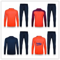 bayer thailand - Top Thailand Quality Barcelona kit training suit shirts set survêtement homme of maillot futbol training men standing suits