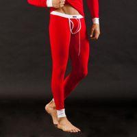 Wholesale Sexy Men s Low Rise Modal Underwear Long johns Thermal Pants Underwear Trousers