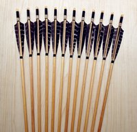 Wholesale 12PK Chinese traditional handmade wooden eagle feather hunting arrows shooting outdoors