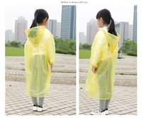 Wholesale Children of disposable raincoat Children raincoat poncho The school sports meet concert children conjoined poncho freeshipping
