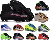 Wholesale New OrigINal mens ACC MaGIsta Soccer shoes High Ankle football Boots HERITAGE SuPERfly IV V CR FG AG superfly CR7 cleats shoes HypeRVEnom