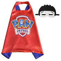 best quality tv brands - Gold Hands Brand New arrival Patrol Dog L70 W70CM Double Side cape and mask sets Child Cosplay Halloween Costumes best quality