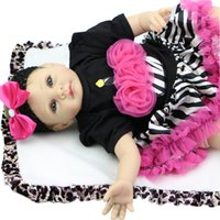 Wholesale Lovely Reborn Babies inch Real Life Dolls soft silicone Doll Collectible Fashion Baby Toy Birthday Gift For Girl