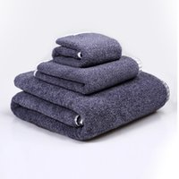 Wholesale Home textile cotton towel sets of hand towel face towel and bath towel beach towel Thick super soft towel sets