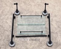 Wholesale Wall Mounted Dual Tier Bathroom Glass Shelf Oil Rubbed Bronze Storage Holder