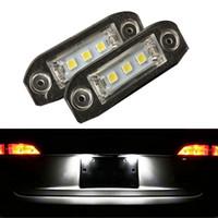 amg license plate - 2pcs LED Error Free Number License Plate Light Bulbs Car Light Fit For Volv o S80 S60 V60 C70 V70 XC70 XC90 XC60 V50 S40