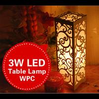 Wholesale Small LED Table Lamp Wood Plastic Lampshade Rustic Modern Living Room Bedroom Lamparas de Mesa E14 V