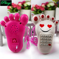 Wholesale Small foot cell phone toys music neck hanging mobile phone toys PD0365
