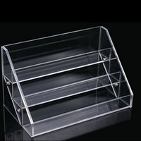 Wholesale Tiers Acrylic Cosmetic Display Case Stand Organizer For Make Up Cosmetics Nails Polishs Displays
