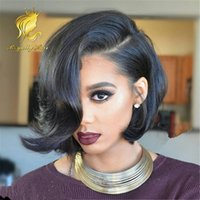 best synthetic lace front wigs - 7A Full Lace Human Hair Wigs Indian Best Human Hair straight side part Wigs Glueless Lace Front Wigs Human Hair