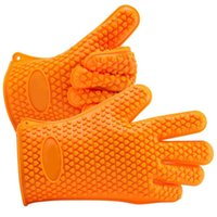 barbeque charcoal grill - Cooking Gloves Heat Resistant Oven Mitts Barbecue BBQ Silicone Grilling Gloves Set Great for Barbeque Cooking Oven