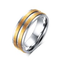 Gift anniversary gift list - New products listed unisex jewelry fashion stainless steel silver with gold color ring