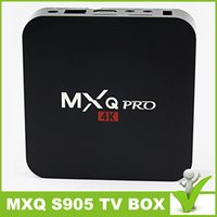 Wholesale Hot S905 Tv box Android Amlogic S905 Quad core bit ARM Cortex A53 up to GHz GB NAND FLASH GB DDR3 Quad Core MXQ Pro TV BOX