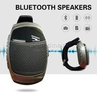 audio plays - Smart Wearable B90 Bluetooth Watch Speaker Handsfree Calling Portable Bluetooth Sport Music Speacker TF Card Playing FM Radio retail box