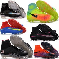 adult football boots - Cheap Men Original Mercurial Superfly V FG CR7 Adult Soccer Shoes ACC Womens Magista Obra Outdoor Football Boots Hypervenom Phantom Cleats