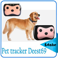Wholesale Deest69 Mini Pet locator GPS Dog Collar Waterproof Real Time Locator Tracker for Pets Dogs Cats Tracking Device Locator