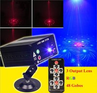 active lenses - 3 Lens Patterns Mixing Laser Projector Stage Lighting Effect Blue LED Stage Lights Show Disco DJ Party Lighting
