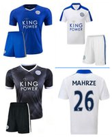 away blue soccer - Customized free Season Leicester City Home Away white Soccer Uniform Football Jerseys DRINKWATER ULLOA DYER MAHREZ VARDY
