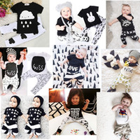 bottle top - Kids Ins Suits T Shirts Pants Baby Ins Tops Trousers Summer Ins Outfits Fashion Shirts Harem Pants Ins Baby Clothing Romper Color