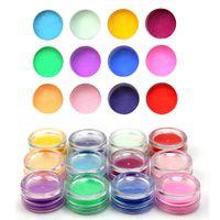 acrylic glitter mix kit - 12 Mix Color D Acrylic Powder Pigment Glitter Dust Set Manicure Beauty Decoration Makeup Nail Art Tool Kit New