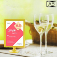 Wholesale Store plastic photo frame stand display price advertising display and menu for restaurants Size A5