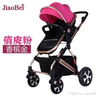 Wholesale Tony Johnson stroller stroller high landscape shock can sit lie folded four way baby stroller Stroller