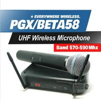 beta system - Microfono PGX PGX24 BETA58 UHF Wireless Microphone System Super Cardioid BETA Handheld Microfone For Karaoke Clear Sound