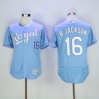 best player - New Kansas City Royals Player Version Jersey Mens Bo Jackson Sky Blue Flexbase Collection Baseball Jersey Best Quality