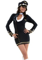 airline miles - Adorable Airline Pilot Costume with Sexy Costumes Women Mile High Maiden Costume S1036