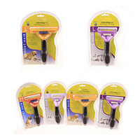 Wholesale 2016 Pet Brush for Dog and Cat deShedding Tool WITH LOGO Grooming Yellow Long Hair Short Hair Expert by park888