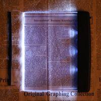 Wholesale Portable Plastic LED Transparent Panel Lightwedge Books Reading Light Unique Magic Night Vision Travel Panel Reading Lamp