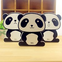 Cheap Wholesale 2 Pieces Lot Panda Cute Decorative Bookends Reading Book Shelf Holder Ends Stand Home Office Desk School Supplies Accessories