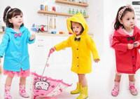 Wholesale Kids RainCoat baby jacket fashion Girls rain coat child waterproof jacket lightweight travel rain poncho