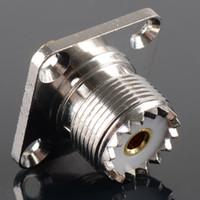 alloy flange - Connector SO239 UHF female hole mm flange solder panel mount straight G00179 BAR