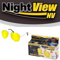Wholesale 2016 Night View NV Glasses Glare Reduction Glasses Yellow Driving View Protection from UVA UVB Turn Night into Bright