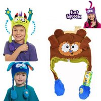 Wholesale Cartoon children hats Monster hats ear be moving magic stereoscopic hats the best Christmas gifts for children A0415