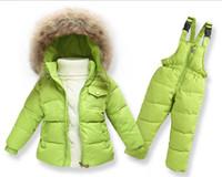 Wholesale HOT Boys Girls Ski Suit Camouflage Winter Jacket for Boys Down Jacket Children s Hooded Coat Pants Warm Girls Snowsuit Kids Parkas