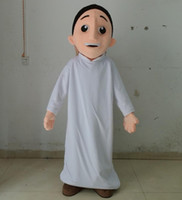 arab men wear - SX0727 Light and easy to wear a thin Arab man mascot costume with white dress for adult to wear