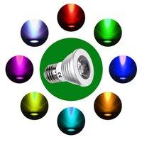 Spotlight led rgb remote bulb 5w - Energy Saving W RGB GU10 E27 MR16 E14 LED Bulb Lamp light Color changing colors Spotlight with IR Remote control