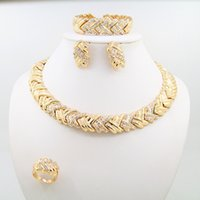 Wholesale 2016 new k gold plated alloy jewelry sets diamond jewelry including necklaces bracelets earrings and rings