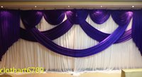 Wholesale wedding party backdrop swag Party background cloth Curtain Celebration Stage cloth Performance Background Satin Drape Wall valance