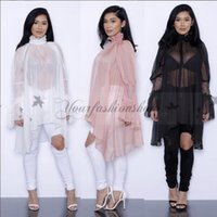 Wholesale Fashion Summer Women Lace Dress Ruffled Long Sleeve Loose Style Female Women Clothing Chiffon Elegant Casual Women Dresses M121