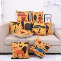 african hotels - 2016 New African family sofa cushions office pillow cushion back cushion pillow washable pillow cover