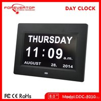 Wholesale new digital clock inch LED alarm calendar Day clocks table clock wall clock for elderly